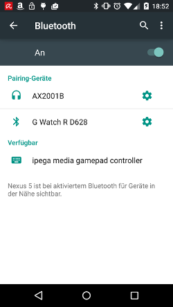 Add bluetooth device (Android)